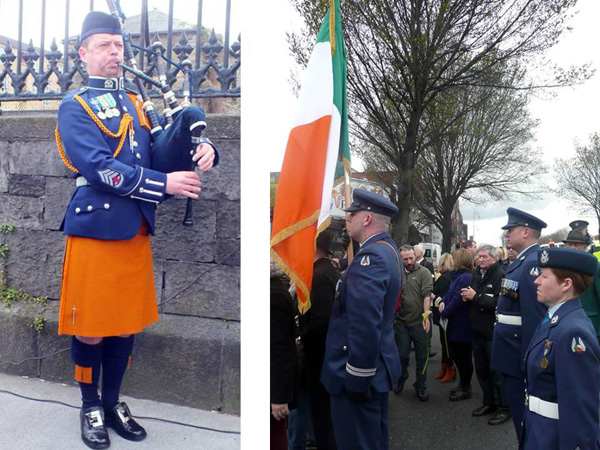 Piper and Colour party