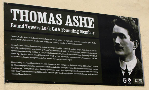 Thomas Ashe plaque